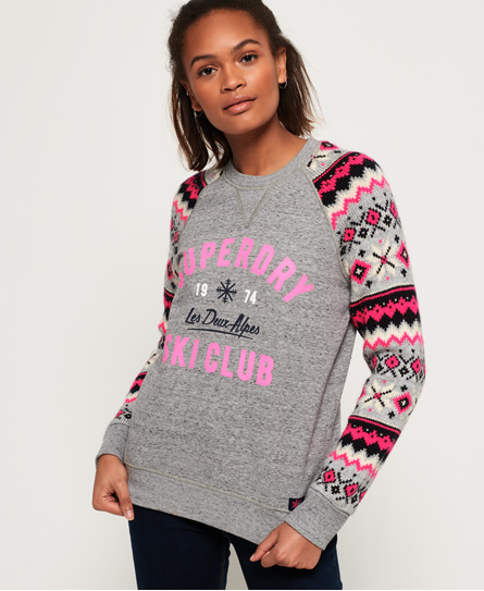 Superdry Superdry Dakota sweatshirt med fair isle-strik og rund hals