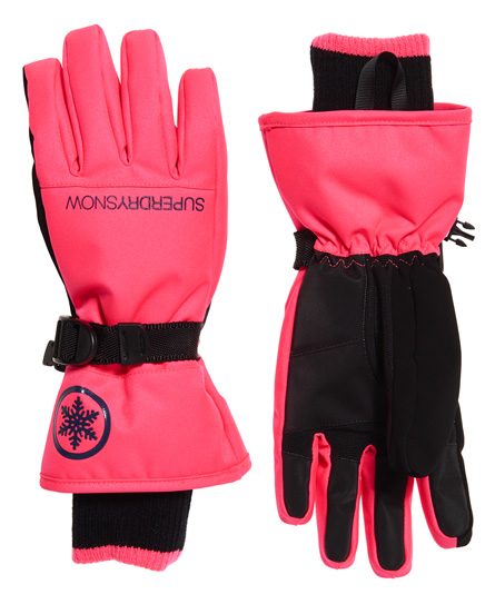 Superdry Ultimate Snow Service Handschuhe   Accessoires > Handschuhe   Pink   Material: polyester 77% acryl 21% elastan 1% viskose 1%    Superdry