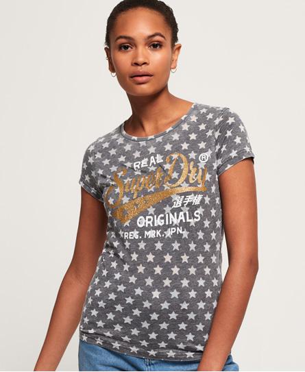 Superdry Superdry Burnout T-shirt med stjerner