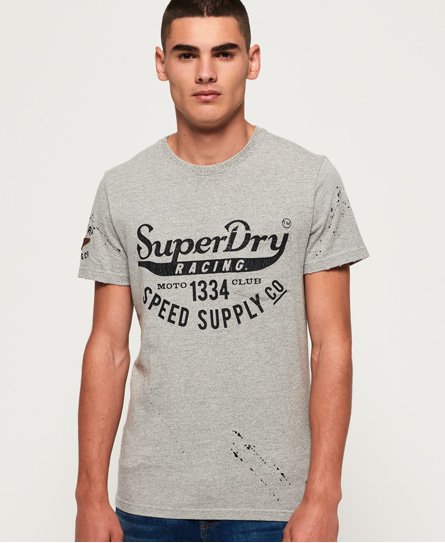 Superdry Superdry Customs 3rd Street T-shirt med lomme