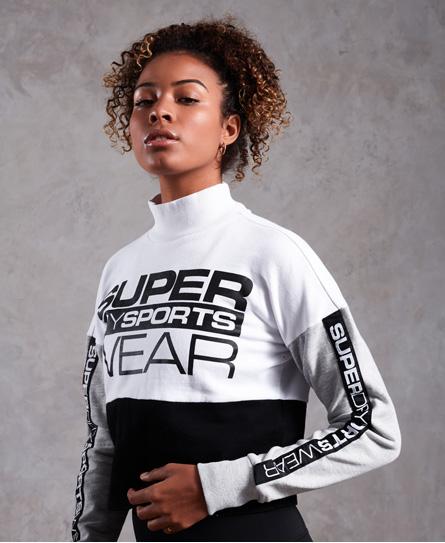 Superdry Verkürzter Street Sports Pullover mit Rundhalsausschnitt
