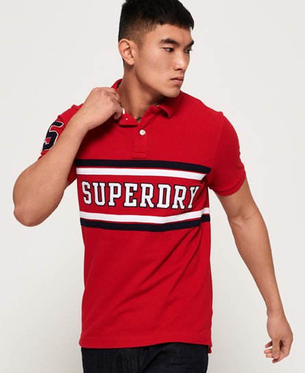 Superdry Superdry Klassisk International poloshirt med applikation