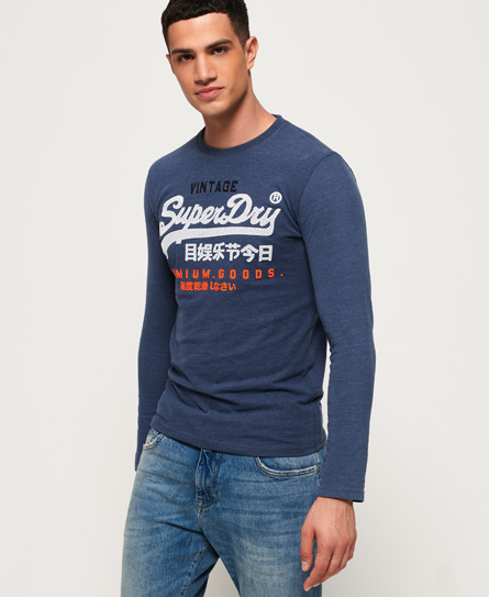 Superdry Superdry Langærmet Premium Goods T-shirt med dekorativt logo