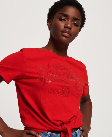Superdry Superdry Deluxe 77 T-shirt med knudedesign foran
