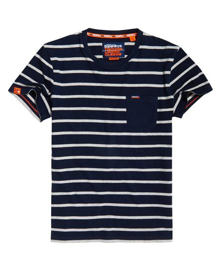 Superdry Portland T-Shirt mit Streifen und Tasche
