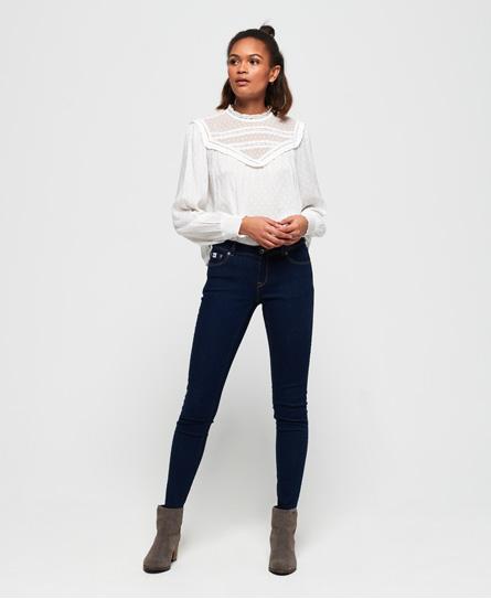 Superdry Cassie Röhrenjeans | Bekleidung > Jeans > Röhrenjeans | Dunkelblau | Material: baumwolle 98%|elastan 2%| | Superdry