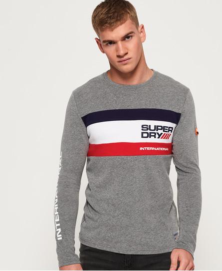 Superdry Superdry Langærmet Trophy T-shirt med trefarvet design