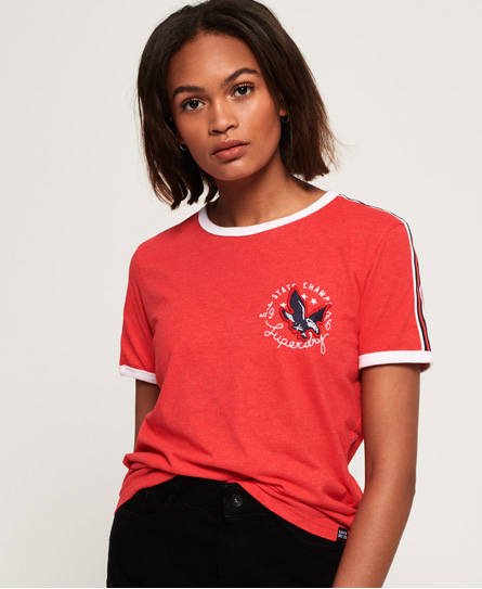 Superdry Superdry Eagle Champs Embroidery Ringer Boxy T-shirt