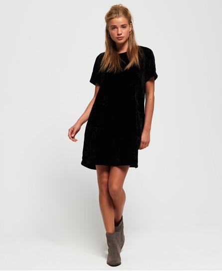 Superdry Superdry Leonie T-Shirt-Kleid aus Samt.
