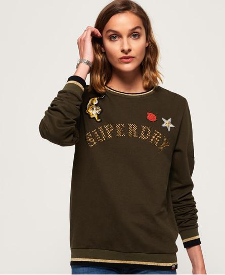 Superdry Superdry Rose Army sweatshirt med rund hals