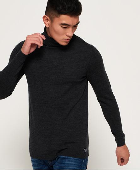 Superdry Merino Rollkragenpullover | Bekleidung > Pullover > Rollkragenpullover | Schwarz | Material: wolle 100%| | Superdry