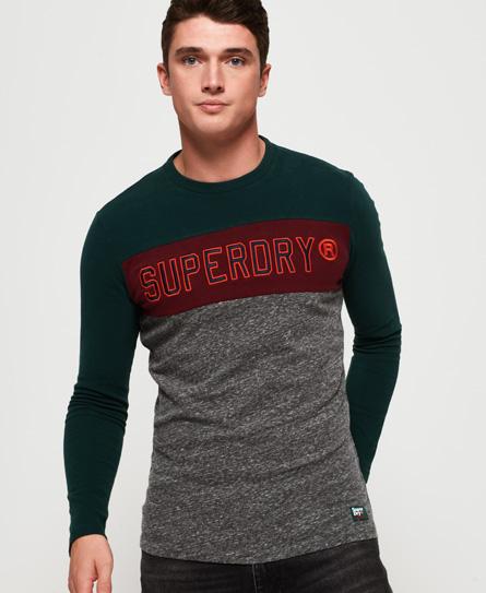 Superdry Superdry Blokfarvet T-shirt med applikation og lange ærmer