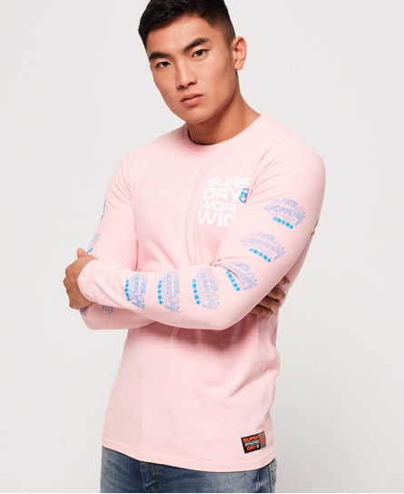 Superdry Superdry Langærmet Ticket Type T-shirt i pastel