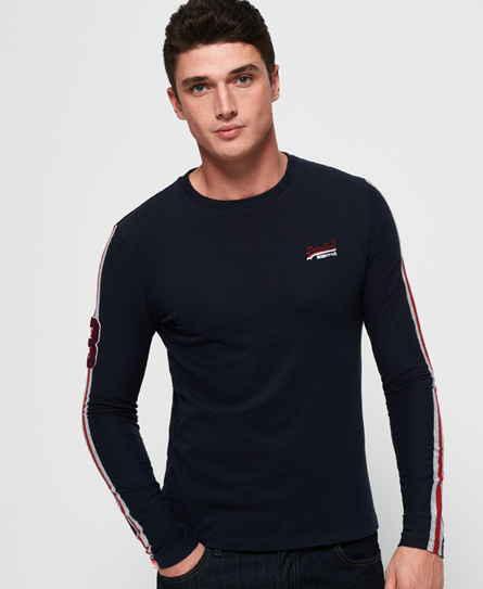 Superdry Superdry Langærmet Orange Label Sport T-shirt med stribedesign