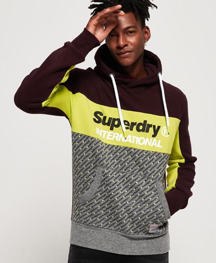 Superdry Superdry Trophy træningshættetrøje i micro med print