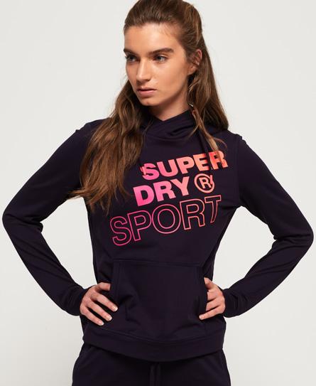 Superdry Core Hoodie mit Grafikdruck | Bekleidung > Sweatshirts & -jacken > Hoodies | Lila | Material: polyester 88%|elastan 12%| | Superdry