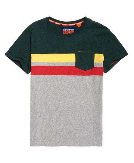 Superdry Gestreiftes Terrace T-Shirt mit Tasche