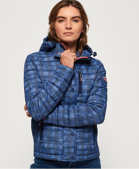 Superdry Superdry Fuji Slim jakke med hætte og dobbelt lynlås