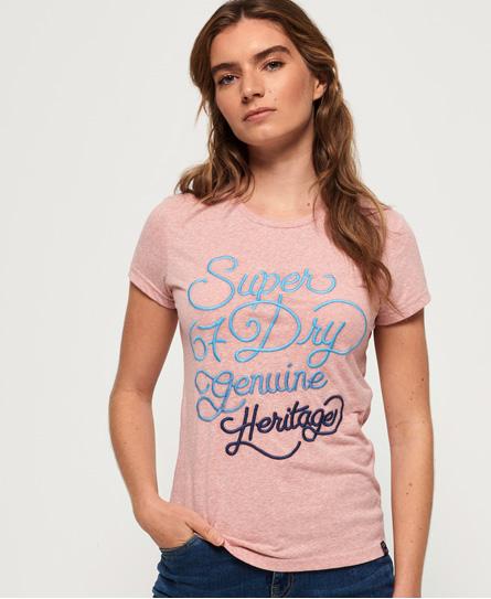 Superdry Superdry 67 Genuine Fade T-shirt med broderi