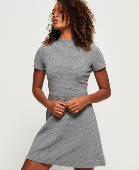 Superdry Nanette Textured jurk grijs