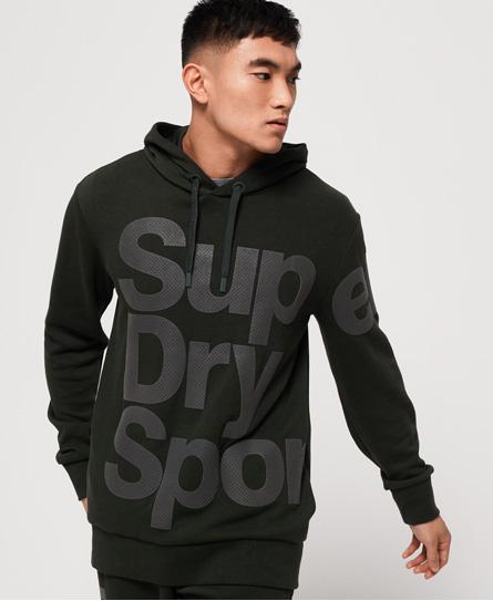 Superdry Combat Hoodie | Bekleidung > Pullover > Kapuzenpullover | Grün | Material: baumwolle 63%|polyester 37%| | Superdry