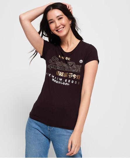 Superdry Superdry Premium Goods T-shirt med stjernenitter