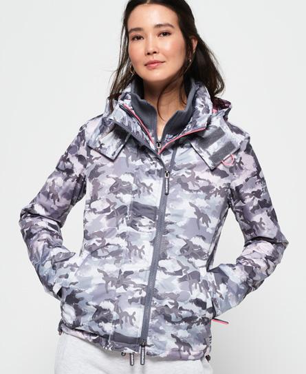 Superdry Superdry Arctic SD-Windcheater jakke med camo-design og hætte