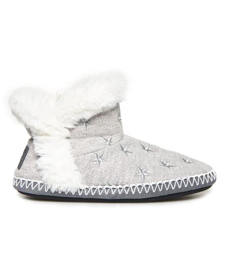 Superdry Pantoletten in Stiefelform   Schuhe > Clogs & Pantoletten > Klassische Pantoletten   Grau   Obermaterial: baumwolle 58% polyester 42%  innenfutter: polyester 100%  sohle: gummi 100%    Superdry
