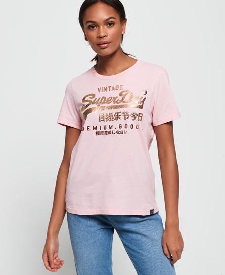 Superdry Superdry Premium Goods T-shirt med fremhævet dekorativt folietryk