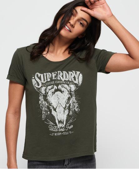 Se Superdry Superdry Vintage Roadie T-shirt ved SuperDry