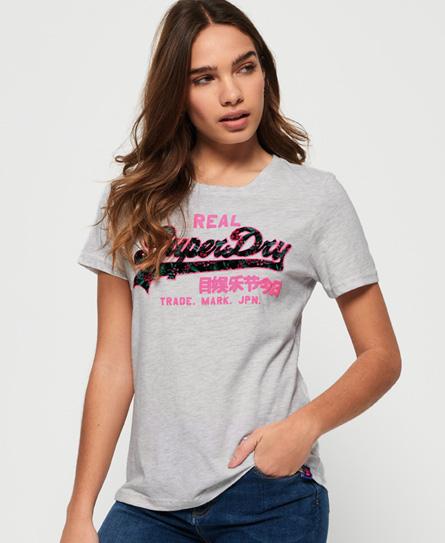 Superdry Superdry Vintage Logo T-shirt med dekorativt tropisk design