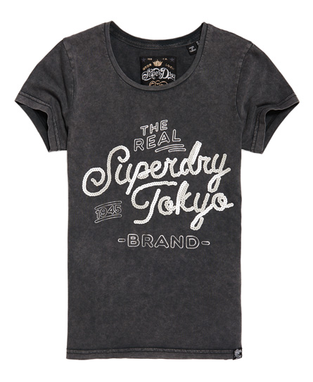Superdry - Camiseta con lentejuelas Tokyo Brand - 2