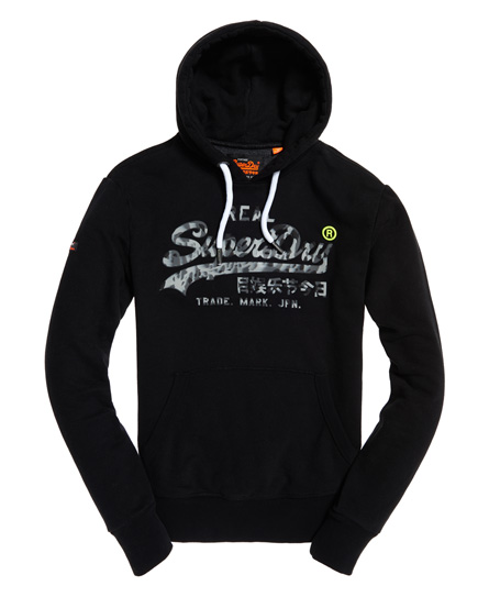 Superdry - Sudadera con capucha de camuflaje y logo Vintage - 2