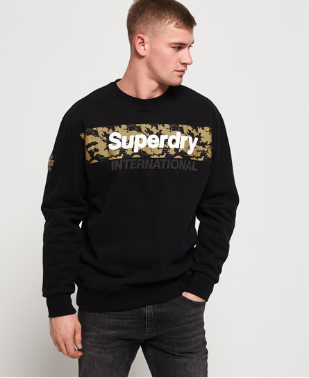 Superdry Superdry International oversized sweatshirt i monokromt design