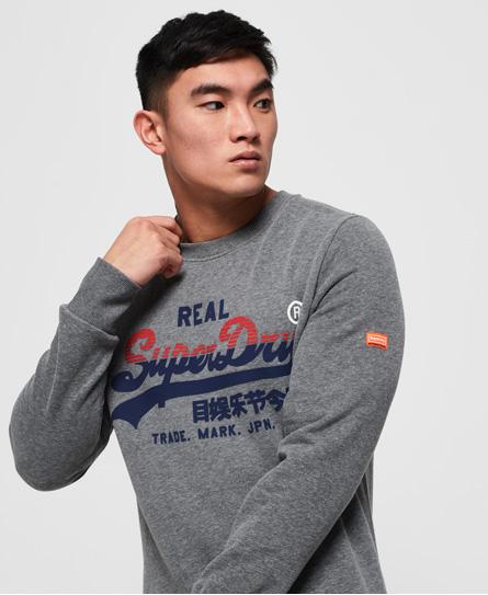 Superdry Superdry Vintage sweatshirt med trefarvet logo
