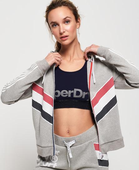 Superdry Superdry Athletico hættetrøje med lynlås