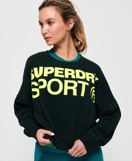 Superdry Superdry Kort Active sweatshirt med flagermusærmer
