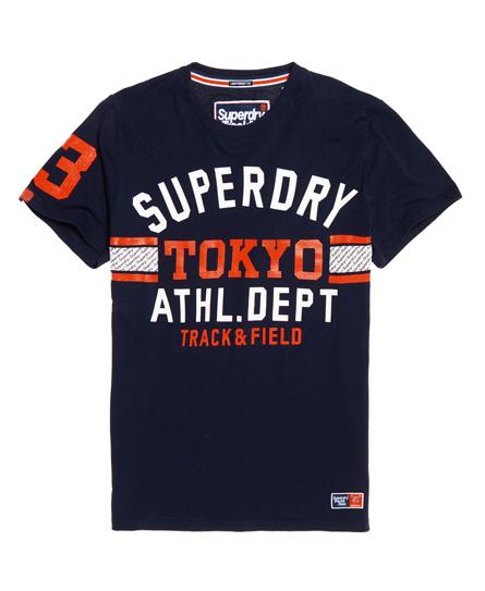 Superdry Superdry Let Track & Field T-shirt med trefarvet logo