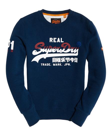 Superdry - Sudadera tricolor con logo Vintage - 2