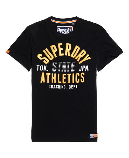 Superdry Superdry Let Track & Field T-shirt med metallicfarvet logo