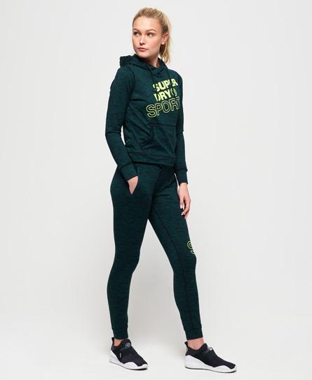 Superdry Core Jogginghose mit Grafikdruck   Sportbekleidung > Sporthosen > Jogginghosen   Grün   Material: polyester 88% elastan 12%    Superdry