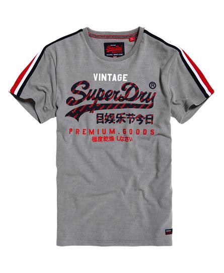 Superdry Premium Goods Racer T-Shirt mit Streifen