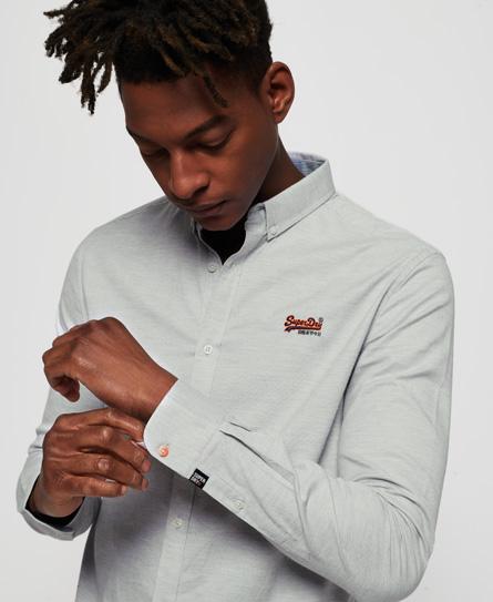 Se Superdry Superdry Broderet skjorte i førsteklasses kvalitet med button down-knappe ved SuperDry