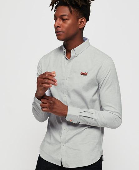 Superdry Premium Button-down-Hemd mit Stickerei