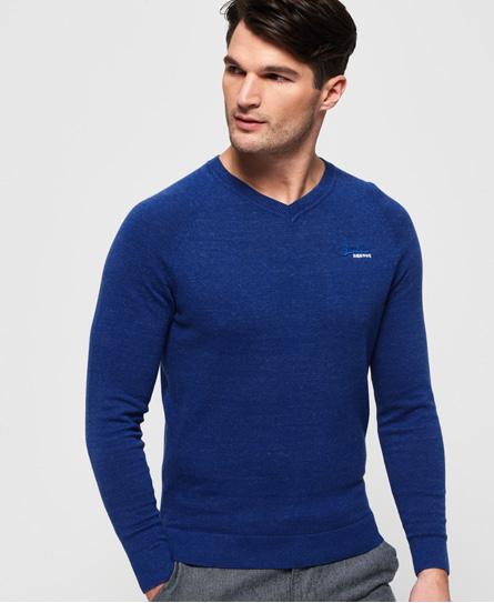 Superdry Superdry Orange Label trøje i bomuld med V-udskæring