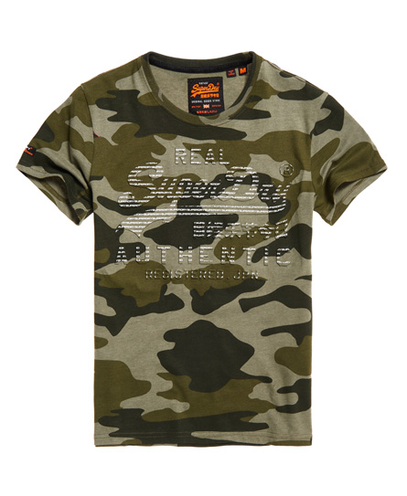 Superdry Superdry Authentic T-shirt med camo-design og vintagelogo