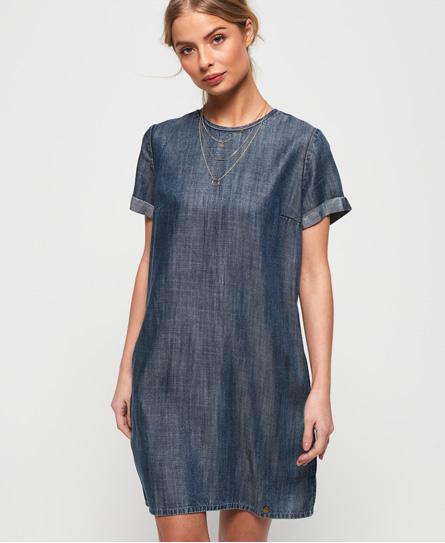 Superdry Shay Tee jurk blauw