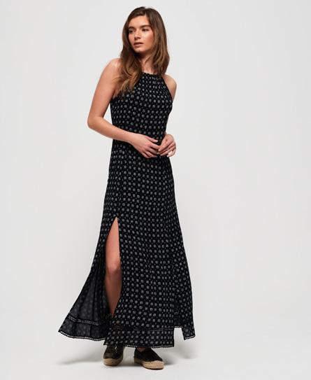 Superdry Boho maxi jurk zwart
