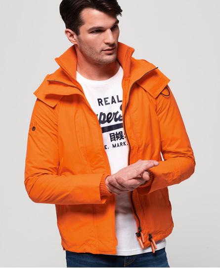 Superdry Superdry Technical SD-Windcheater jakke med hætte og farverig lynlås