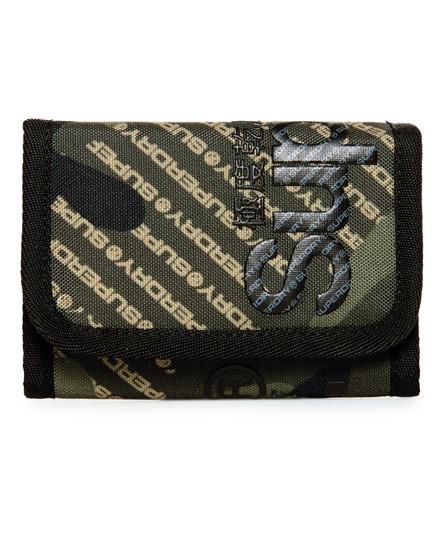 Superdry Tarp Brieftasche mit Logo und Tarnmuster | Accessoires > Portemonnaies | Grün | Material: polyester 100%| | Superdry
